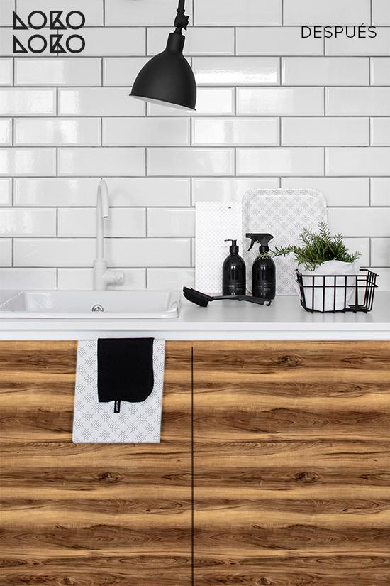 muebles-de-cocina-decorados-con-vinilo-imitacion-madera-nogal-textura-natural-lokoloko