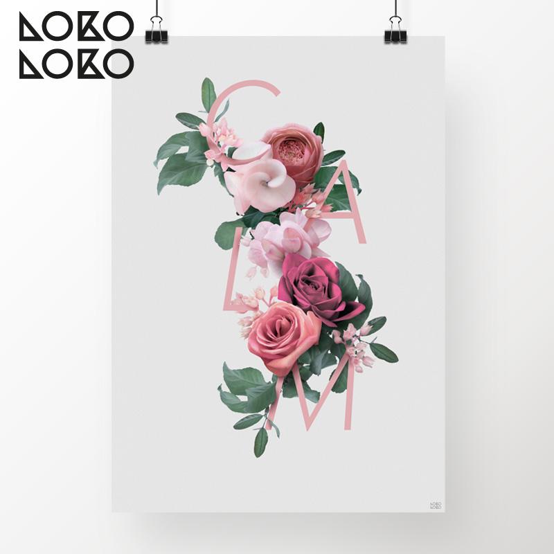 nuevos-poster-flores-rosas-y-texto-lokoloko-design