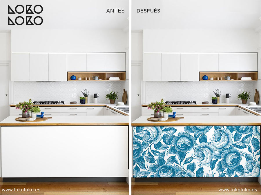 Antes-y-despues-de-muebles-tuneados-con-vinilos-florales-lokoloko-design