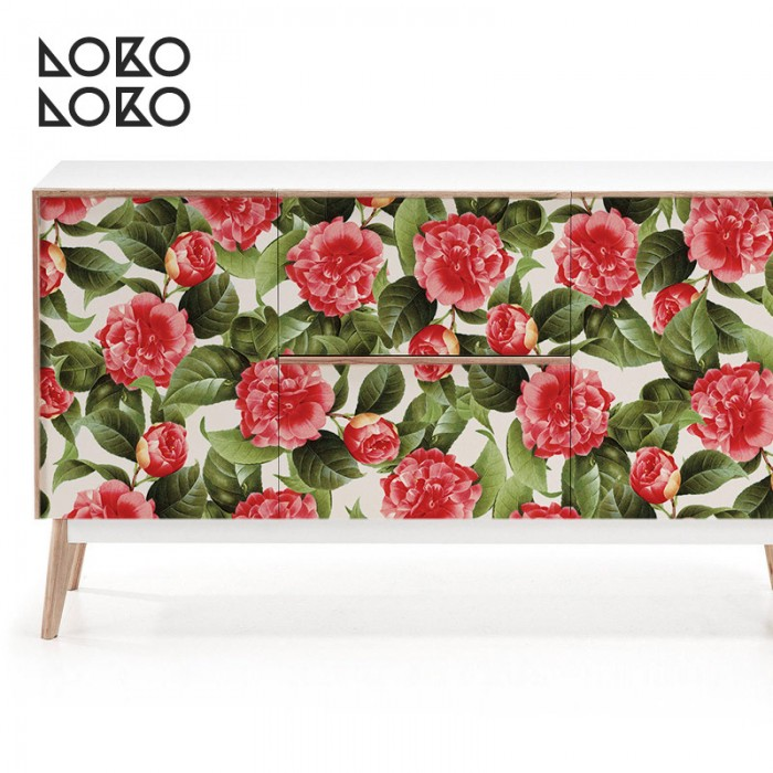 estampado-flores-peonias-muebles-salon
