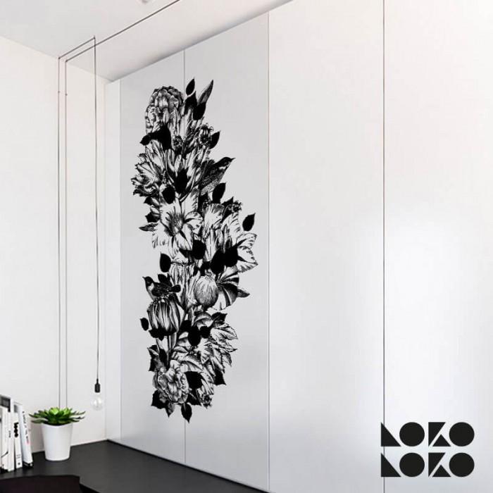 flores-blanco-negro-puertas-de-habitacion