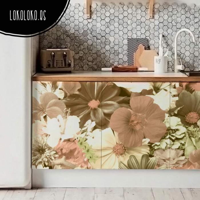 vinilos-forrar-muebles-flores-vintage