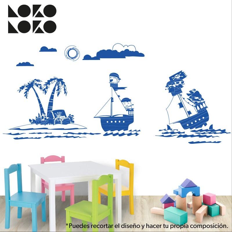 Ideas para decorar apartamentos de playa con vinilos para for Vinilos muebles infantiles