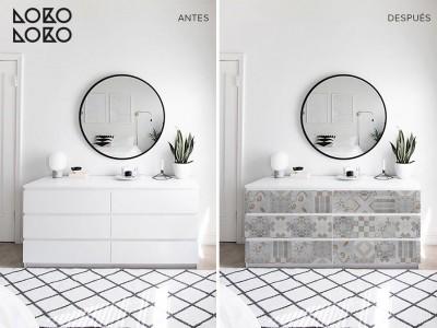 Antes y después con vinilo en apartamentos de playa