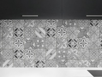 Antes y después de azulejos, cenefas, copetes y frontales de cocina ¡con vinilos!