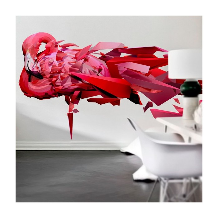 vinilos-multicolor-animales-flamenco-rosa