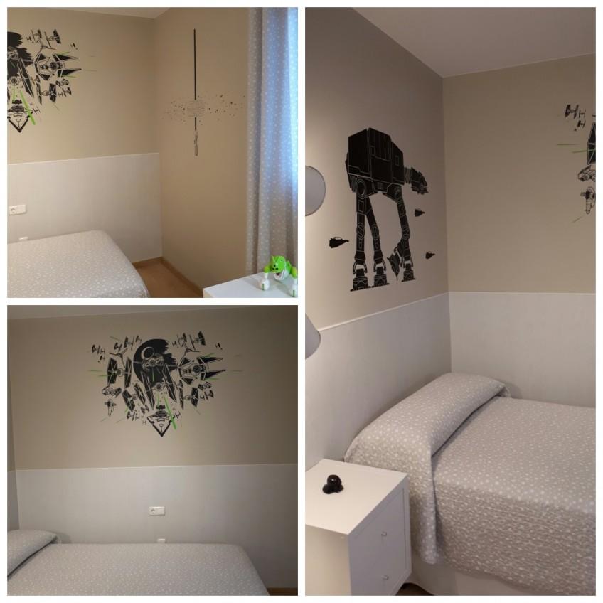 Antes y despu s decorar habitaciones infantiles con vinilo for Vinilos para dormitorios infantiles