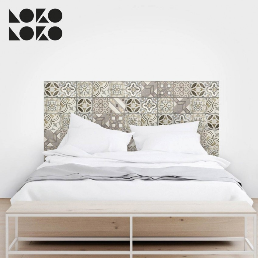 Lokoloko wall decals 15 ideas originales para cabeceros for Vinilos pared azulejos