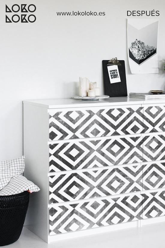 comoda-malm-blanca-decorar-con-vinilo-para-muebles-azulejo-geometrico-dormitorio-nordico-antes-lokoloko