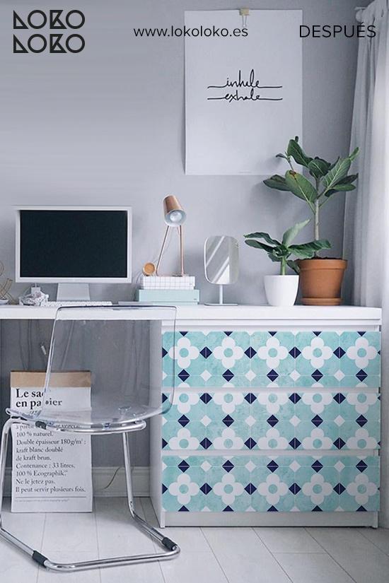 comoda-malm-blanca-despacho-casa-antes-vinilo-losas-flores-blancas-vintage-lokoloko
