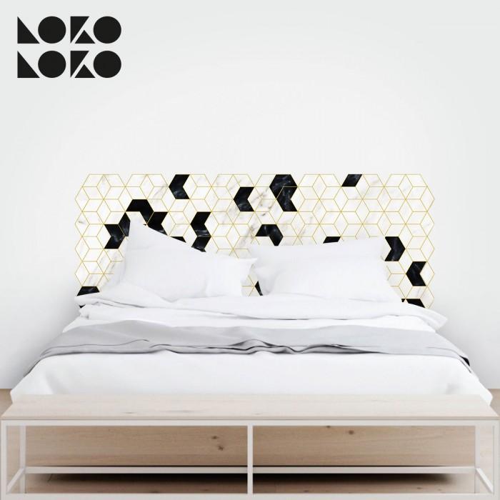 15 ideas originales para cabeceros de cama con vinilos - Vinilo cabecero cama ...