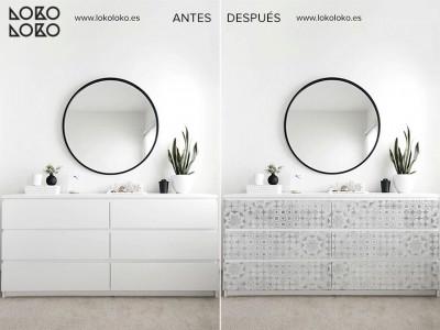 Antes y después IKEA hacks con vinilo ¡Renovando el conocido mueble MALM!