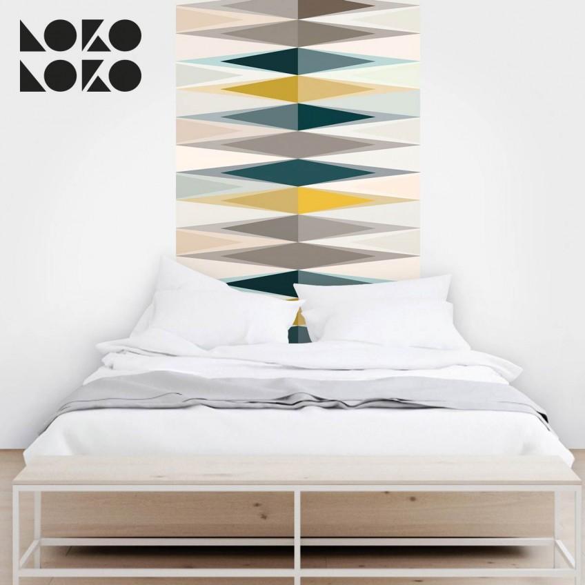 15 ideas originales para cabeceros de cama con vinilos - Forrar cabeceros de cama ...