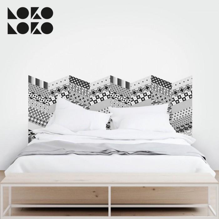 15 ideas originales para cabeceros de cama con vinilos for Vinilo cabecero cama