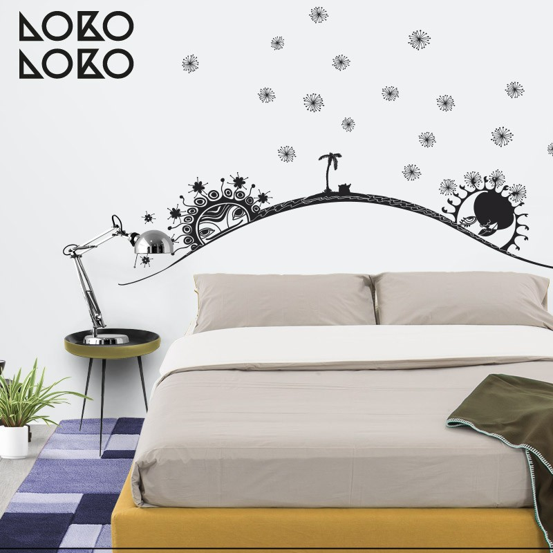 15 ideas originales para cabeceros de cama con vinilos for Vinilos pared originales
