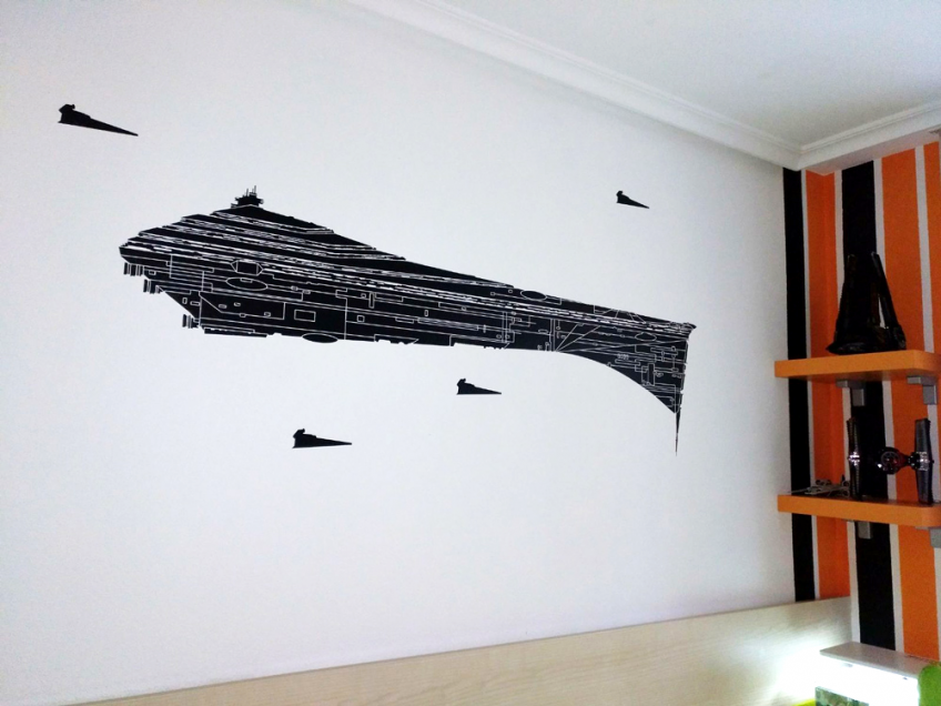 vinilo-decorativo-pared-gotele-nave-star-wars-lokoloko-design