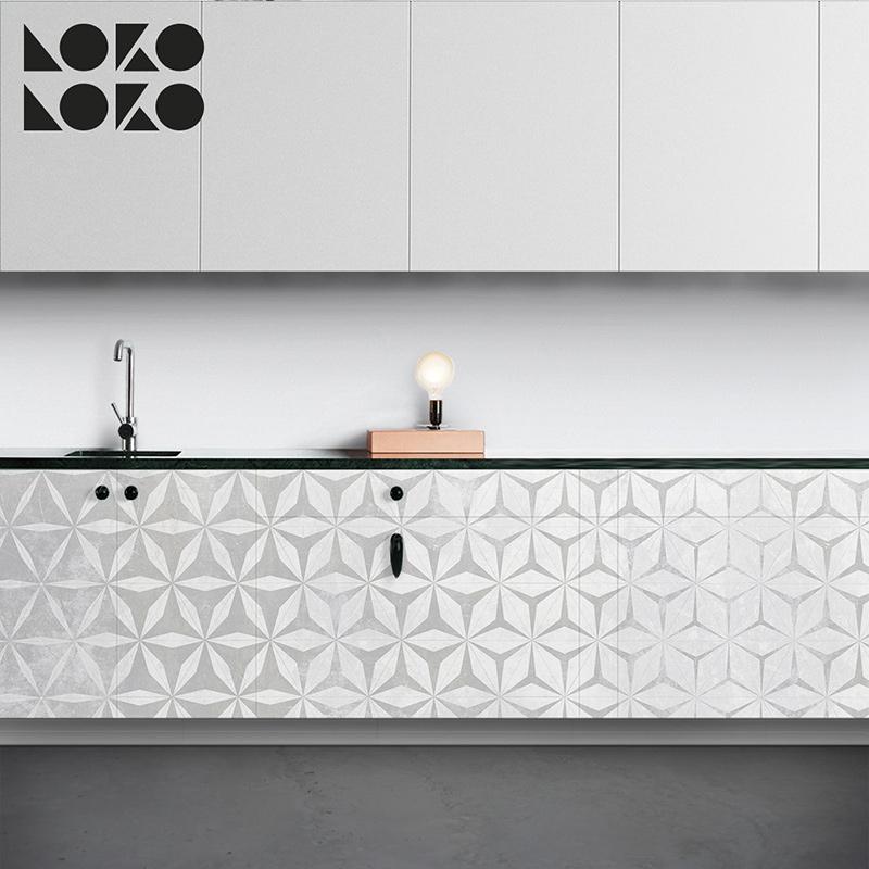 Forrar muebles cocina vinilo impreso con elegante textura - Como forrar muebles de cocina ...
