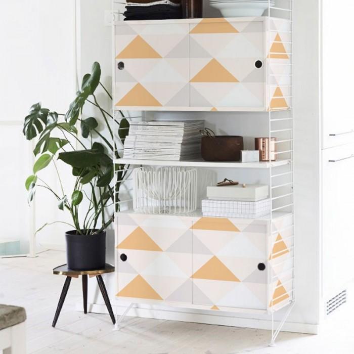 vinilo-adhesivo-cocinas-triangulos-color-naranja-pastel