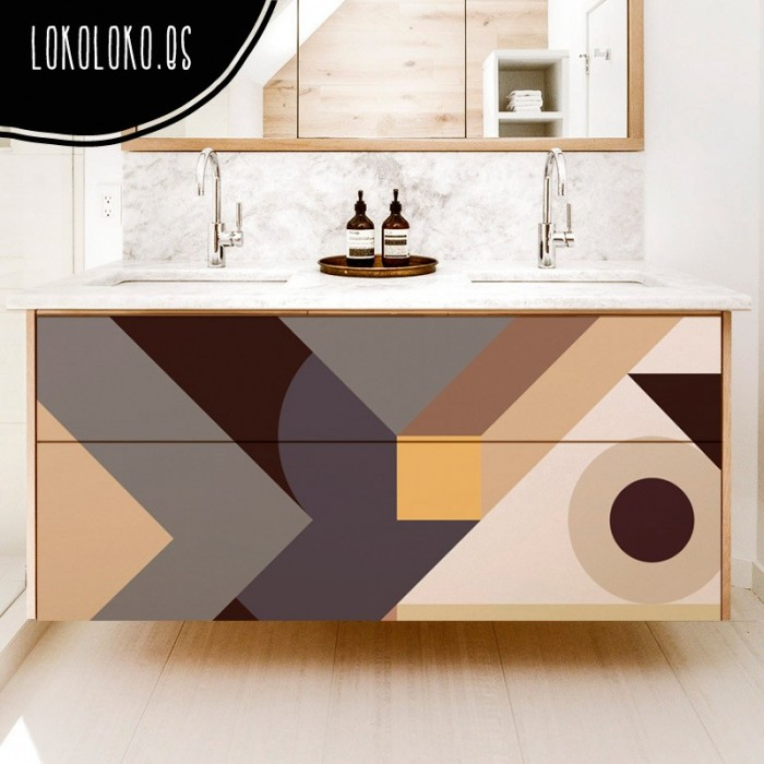 vinilo-muebles-decoracion-geometria-abstracta-marron-tierras