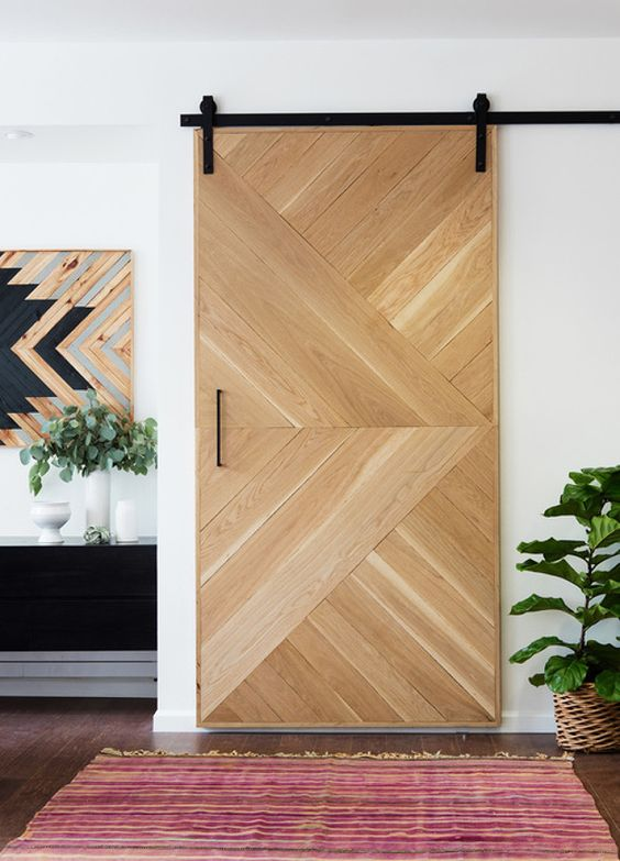 Puerta-chevron-madera-decoracion