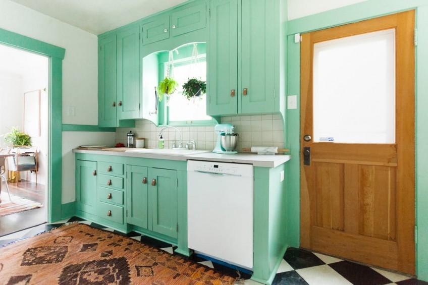 cocina-estilo-rustica-de-color-menta
