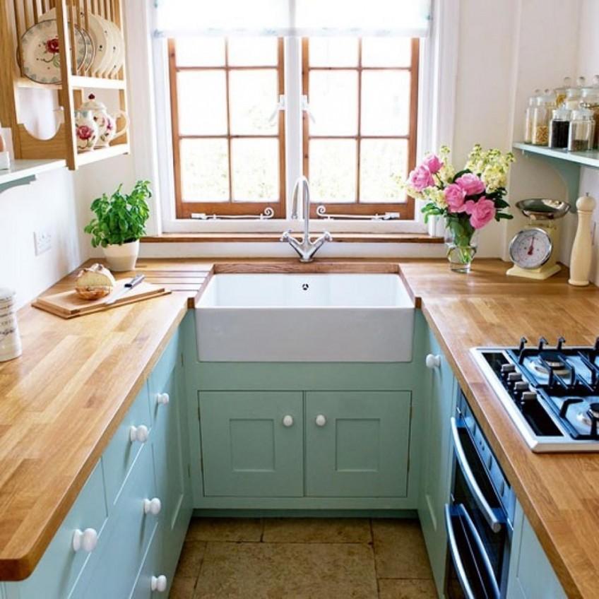 cocina-pequeña-de-color-menta