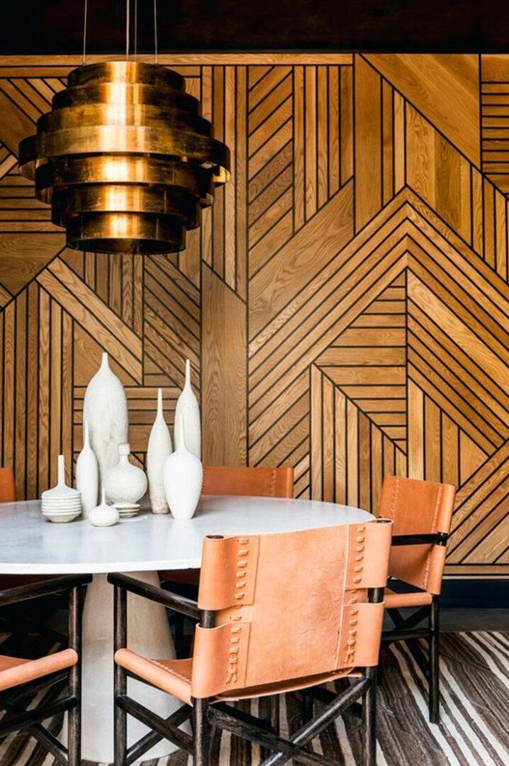 Madera y geometría, la fusión que derrocha elegancia en estado puro