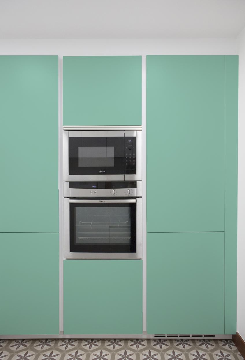 45 ideas para aplicar el color verde menta o mint en la cocina - Cocinas con vinilo ...