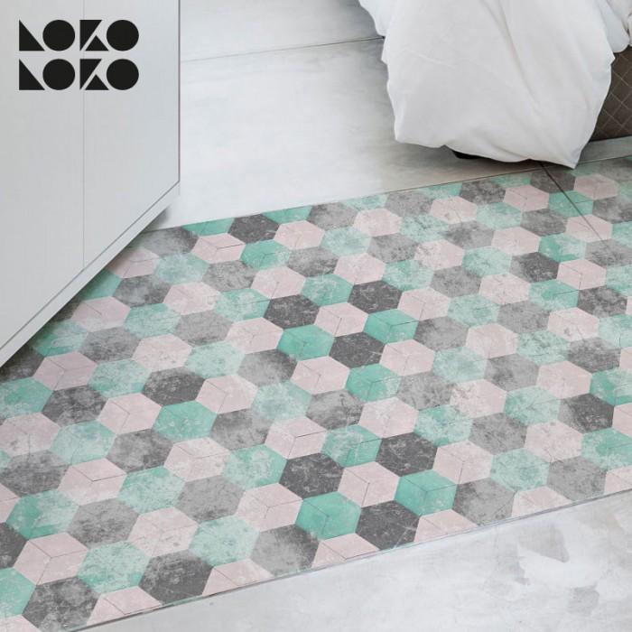 suelo-hexagonos-vintage-colores-pasteles