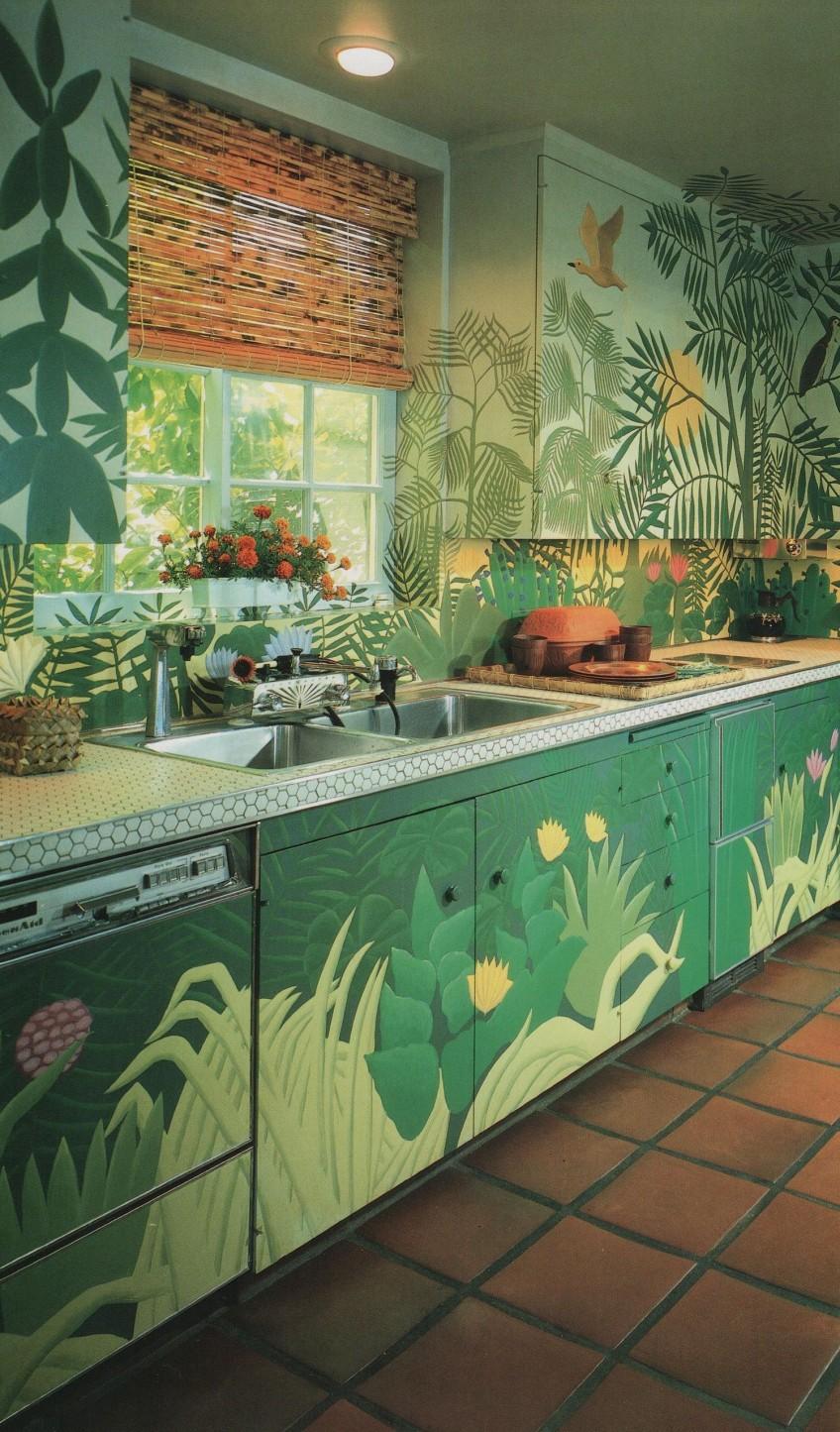 cocina-decorada-con-estilo-jungalow