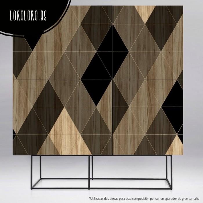 vinilo-forrar-muebles-madera-geometrica-triangulos