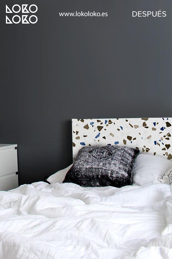cabecero-de-cama-malm-ikea-textura-terrazo-lokoloko