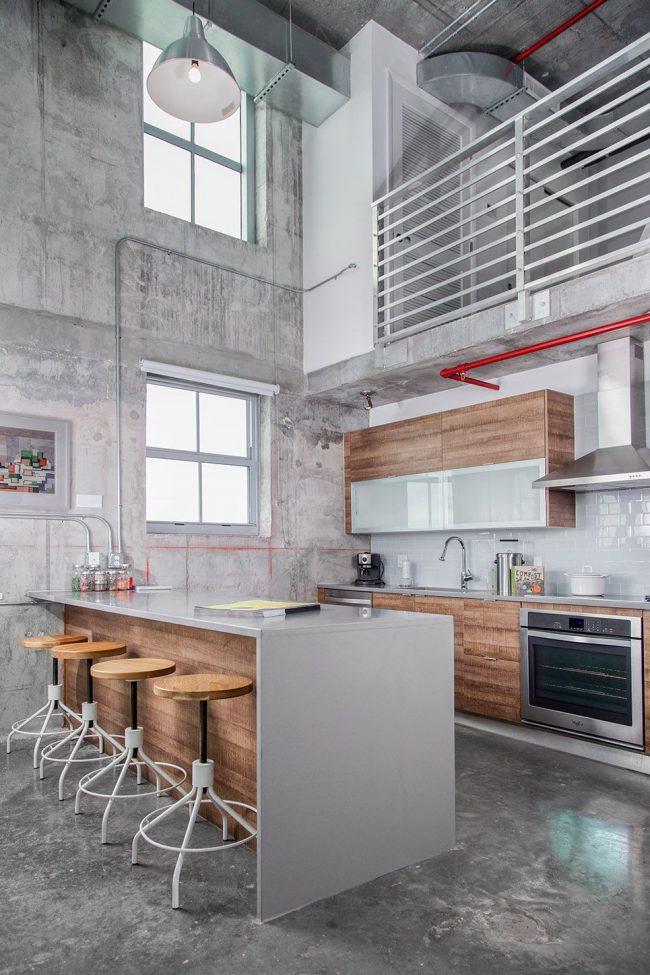 cocina-decorada-con-textura-de-cemento