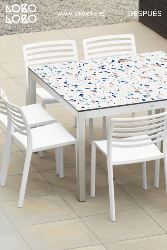 mesa-de-centro-de-terraza-forrada-con-vinilo-de-textura-terrazo-lokoloko