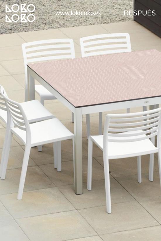 mesa-de-centro-de-terraza-forrada-con-vinilo-geometrico-rosa-lokoloko