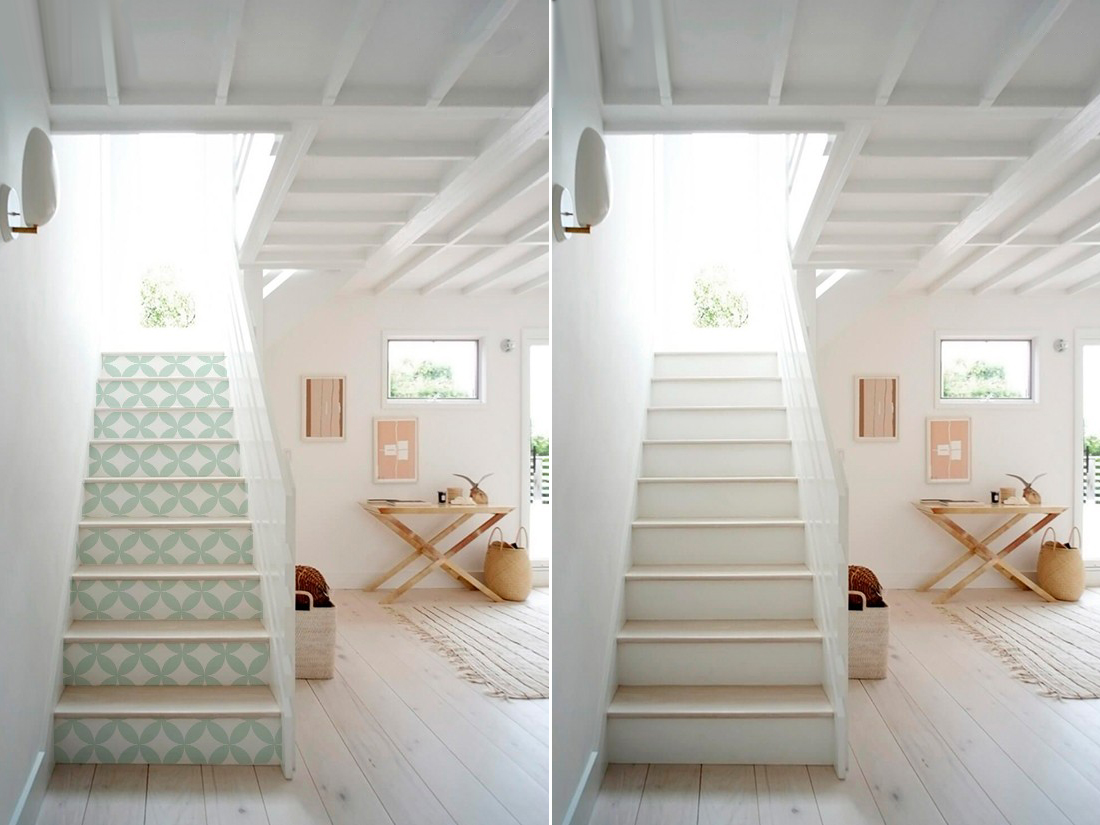 Antes y despues archivos decoraci n diy e ideas para - Forrar escaleras vinilo ...