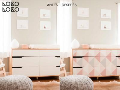 Antes y después IKEA hacks con vinilo ¡Renovando la cómoda Mandal!