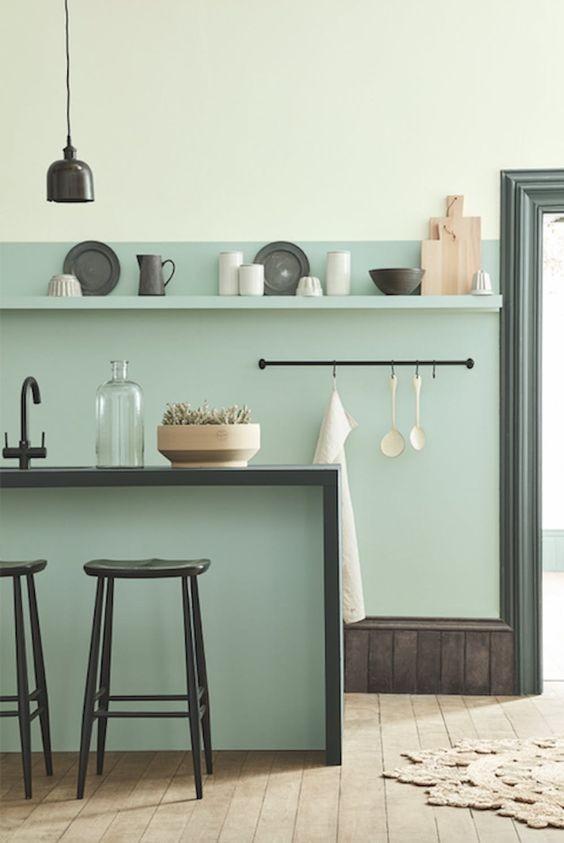 cocina-monocromo-verde-de-moda-colores-2019