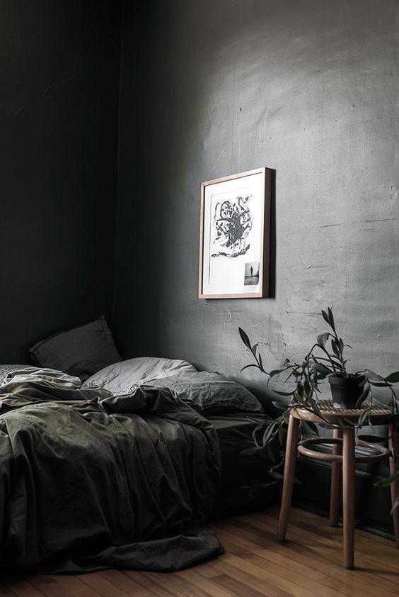 dormitorio-monocromo-negro-tendencia-2019