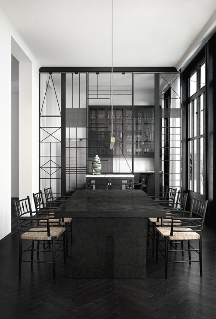 Estructura negra en muebles la locura en la decoraci n de for Casa minimalista blog