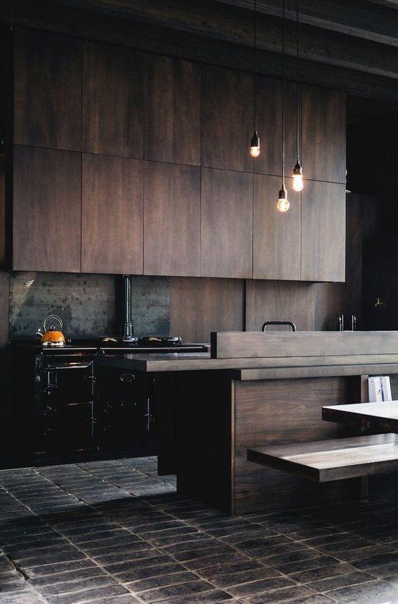 cocina-con-madera-oscura-tendencia-2019