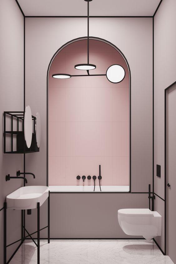 decorando-con-linea-negra-los-muebles-espejos-cristales-y-arcos-de-bano-decoracion-de-interiores-2019