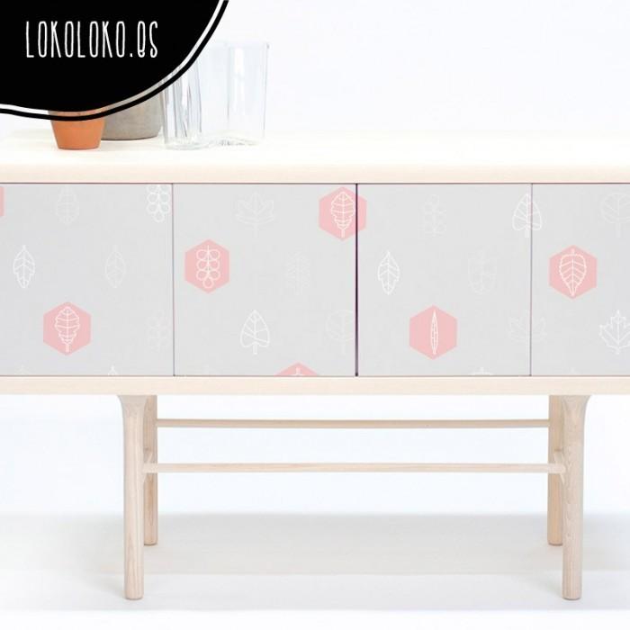 vinilo-diy-forrar-mueble-hojas-geometricas-gris
