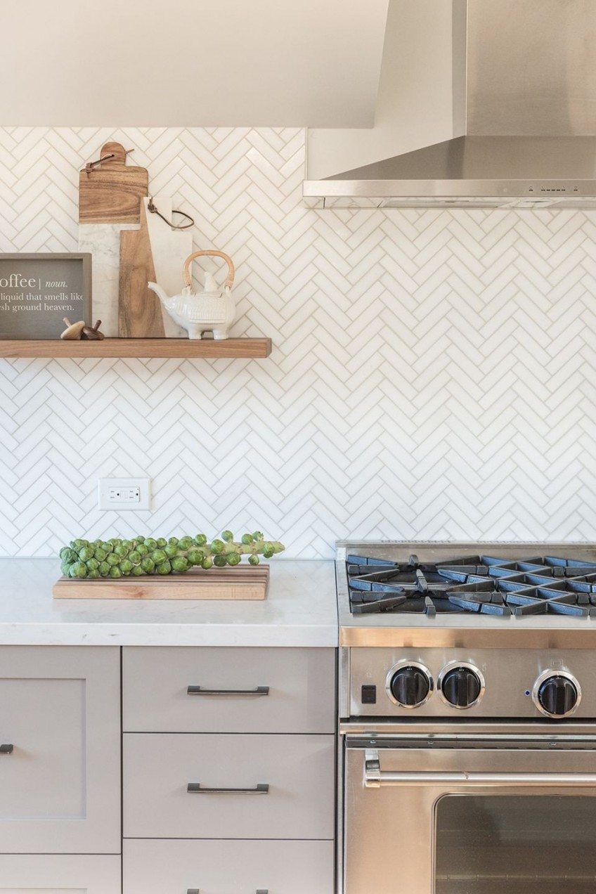 herringbone tile backsplash Inspirational 21 Best Kitchen Backsplash Ideas to Help Create Your Dream Kitchen