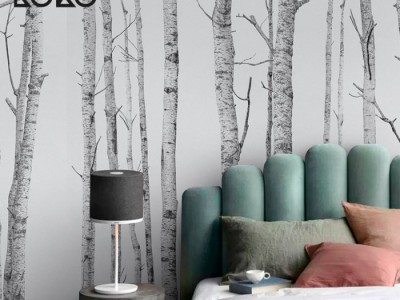 Ideas con papel de pared estilo nórdico para decorar tus paredes