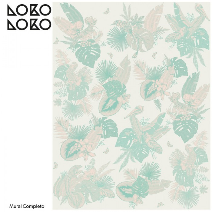 papel-de-pared-adhesivo-miami-birds-mural-papel-pared-pajaros-palmeras-menta-rosas-lokoloko