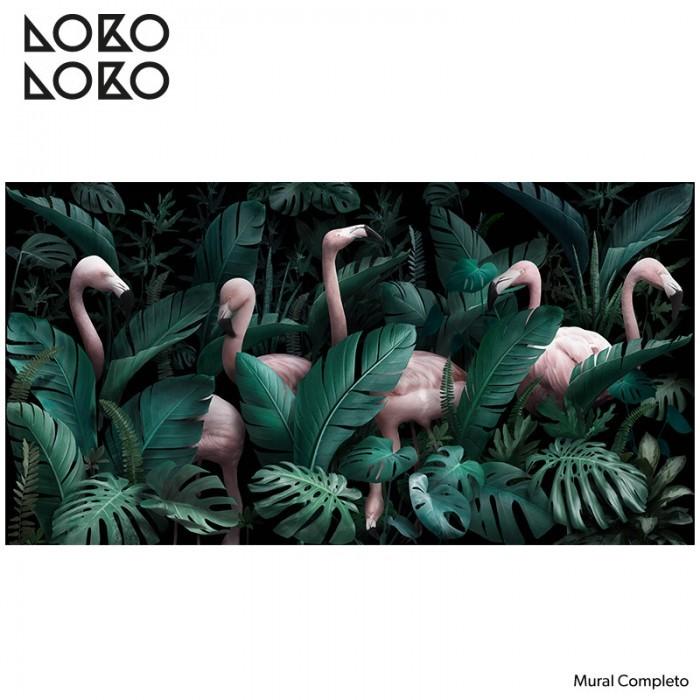 papel-de-pared-adhesivo-y-ecologico-paradiso-con-flamencos-monsteras-plantas-decoraciones-tropicales-lokoloko
