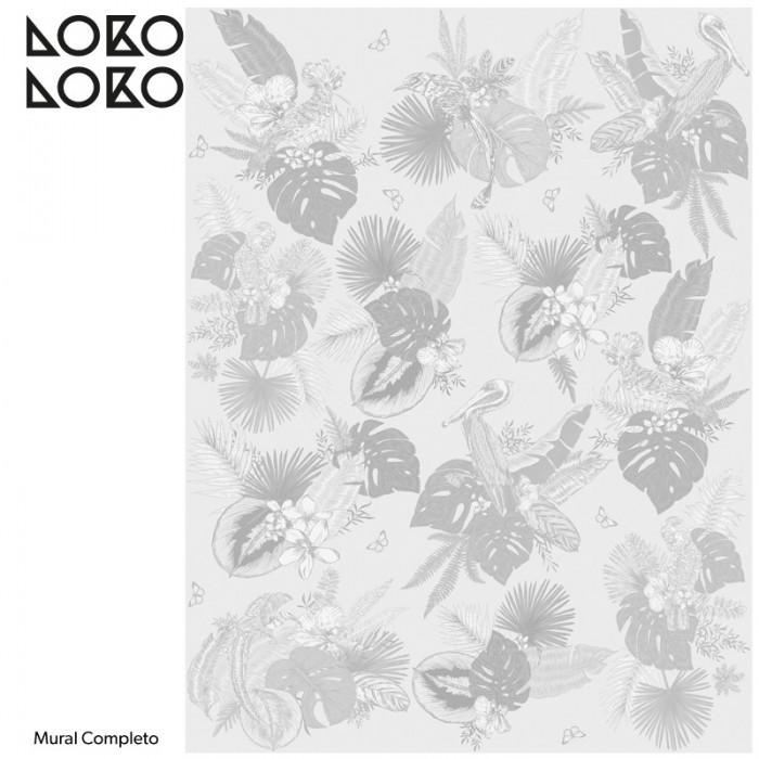 papel-de-pared-ecologico-miami-birds-grises-blancos-pajaros-palmeras-pelicanos-decoraciones-modernas-lokoloko