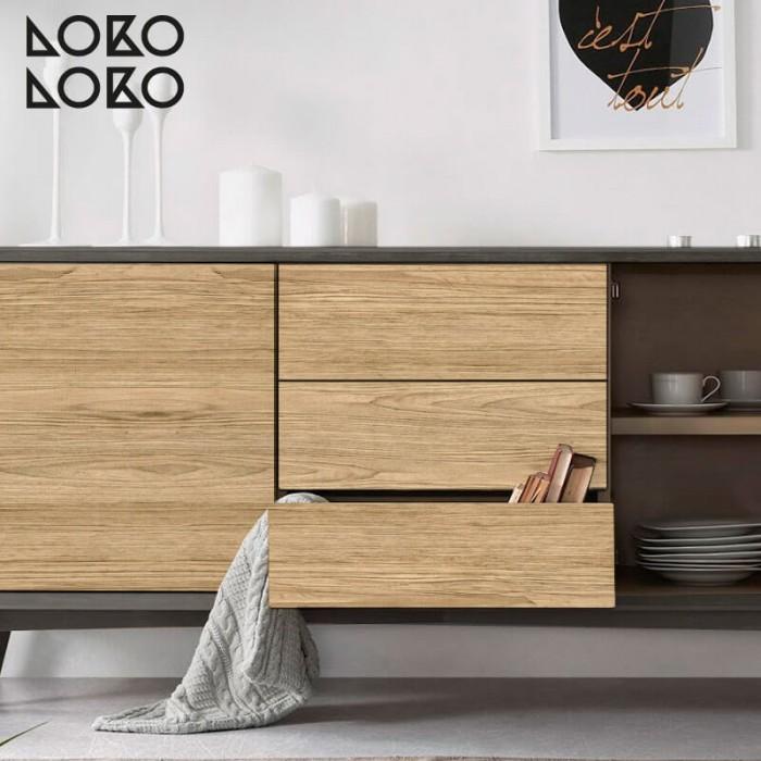 madera-natural-para-decorar-frente-de-cocina