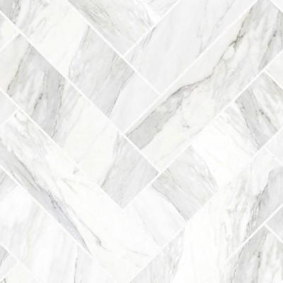 Azulejos en espiga de mármol carrara junta blanca - vinilo lavable autoadhesivo opaco muebles, paredes, suelos